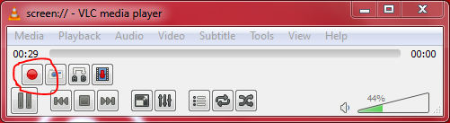 Record screen using VLC