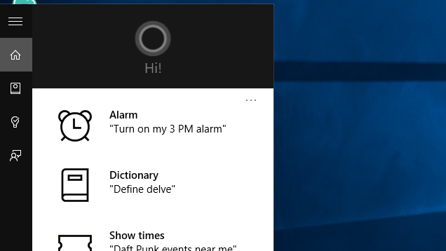 Windows 10 cortana voice assistant