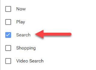 Google search history