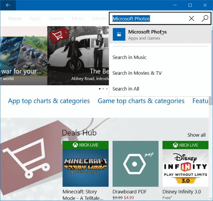 Windows 10 Reinstall Photos app
