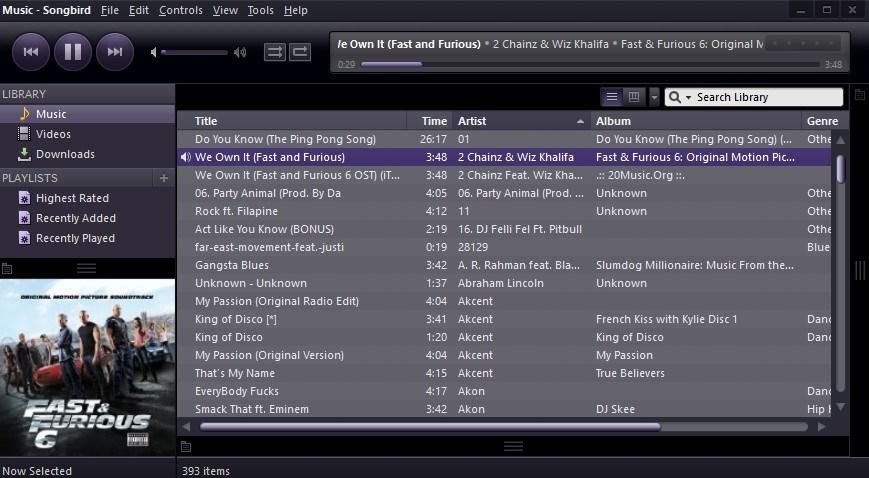 best top music players for windows-10 songbird