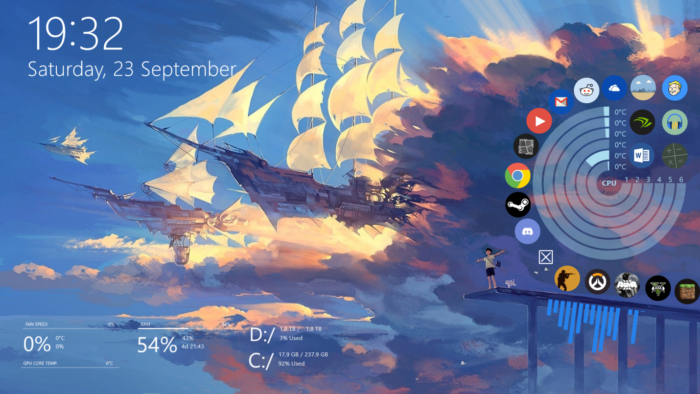customize windows rainmeter