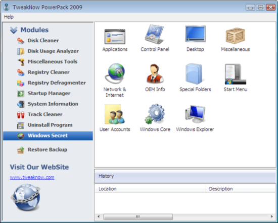 customize windows tweaknow powerpack 2009