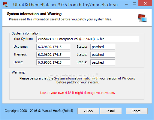 customize windows ultra ux theme patcher 305