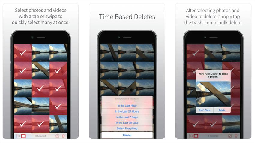 bulk delete iphone photos