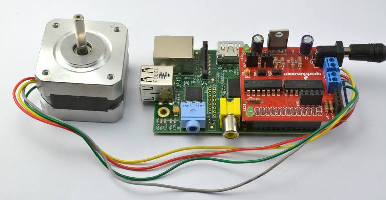 how to control a motor using raspberry pi 4