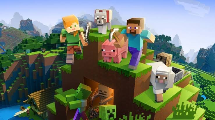 Minecraft console game for kids
