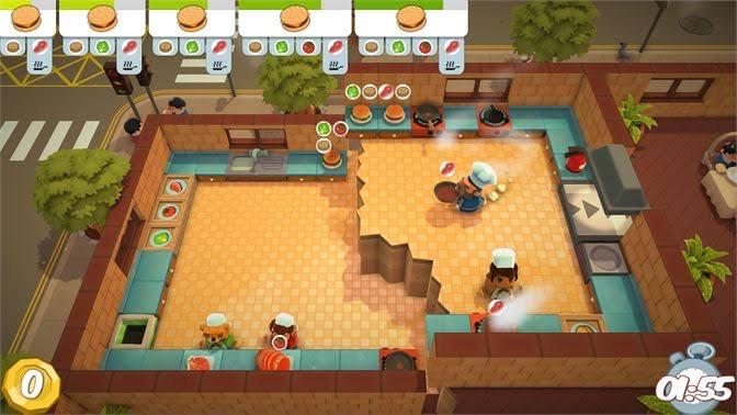Overcooked console game for kids