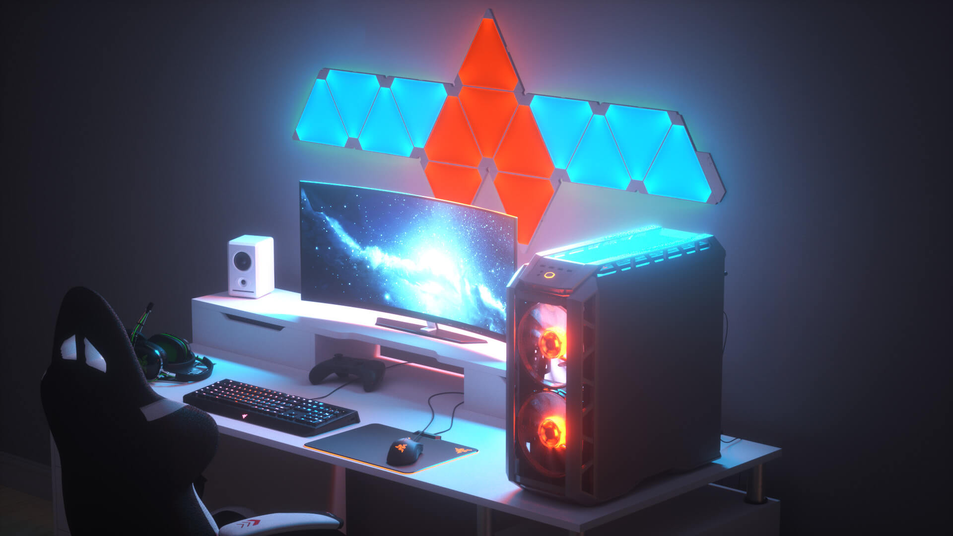 Best nanoleaf gaming room design ideas inspiration 2