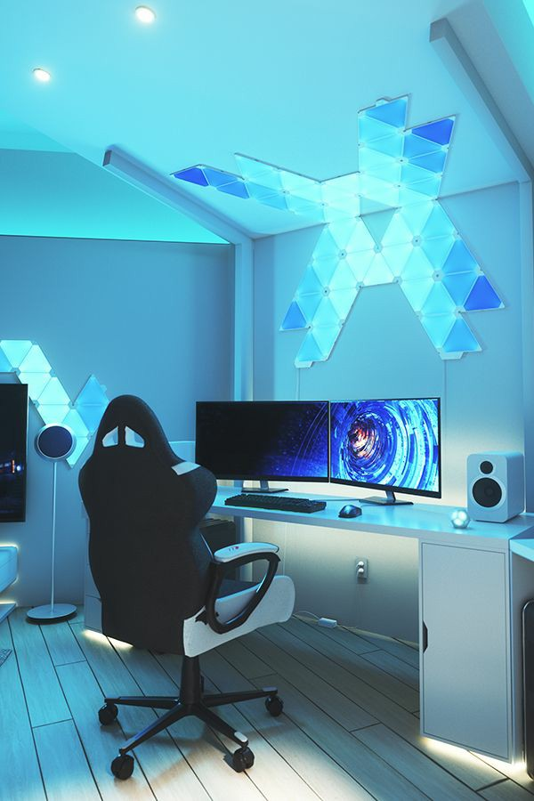 Best Nanoleaf gaming room design ideas inspiration 10