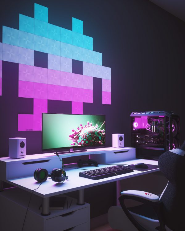 Best Nanoleaf gaming room design ideas inspiration 3