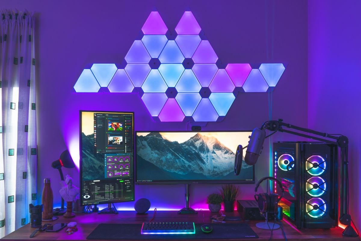 Best Nanoleaf gaming room design ideas spiration 9